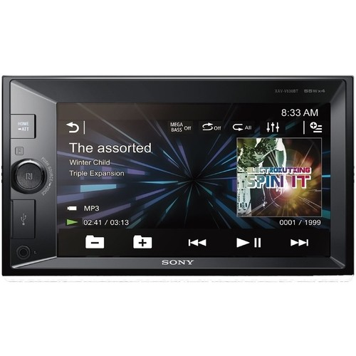 "Sony - XAV - 6.2"" - Built-In Bluetooth - In-Dash Deck with Remote - Black"