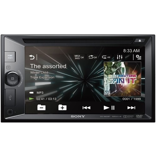 "Sony - XAV - 6.2"" - CD/DVD - Built-In Bluetooth - In-Dash Deck with Remote - Black"