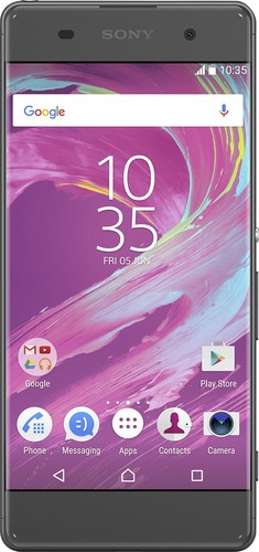 Sony - XPERIA XA 4G LTE with 16GB Memory Cell Phone (Unlocked) - Graphite black