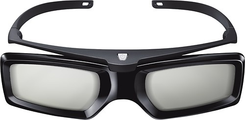 Sony - Battery-Operated Active 3D Glasses - Black