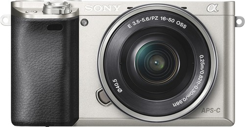 Sony - Alpha a6000 Mirrorless Camera with 16-50mm Retractable Lens - Silver