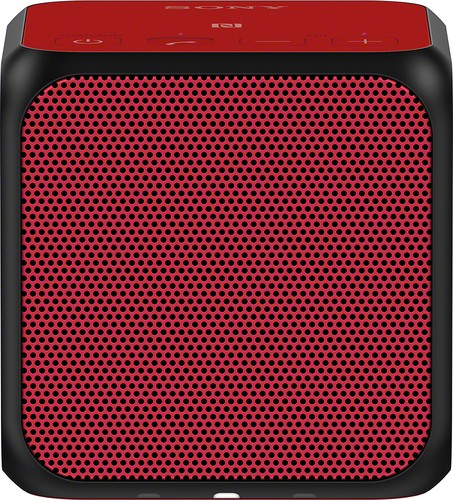 Sony - Ultraportable Bluetooth Speaker - Red