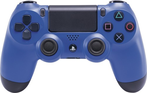 Sony - DUALSHOCK 4 Wireless Controller for PlayStation 4 - Wave Blue