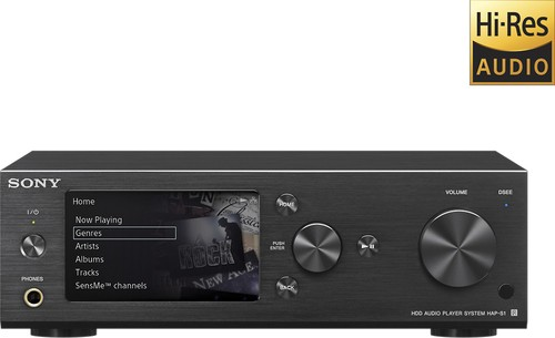 Sony - Hi-Res 80W 2.0-Ch. Music Player System - Black