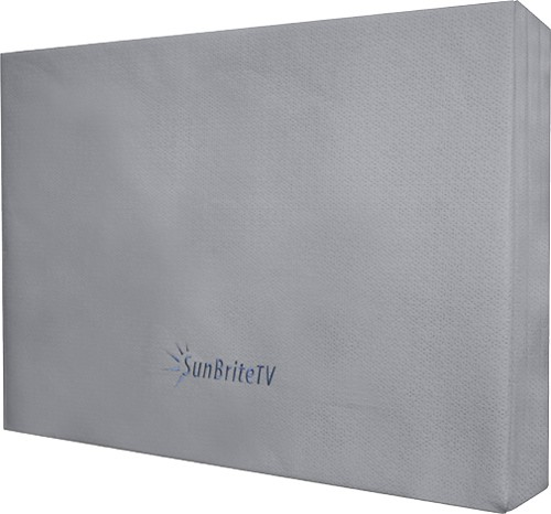 "SunBriteTV - Outdoor Dust Cover for Most 46"" Nonarticulating Wall-Mount TVs - Gray"