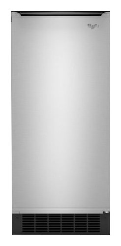 "Whirlpool - Gold 15"" 50-Lb. Built-In Icemaker - Stainless Steel"