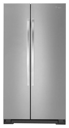 Whirlpool - 25.2 Cu. Ft. Side-by-Side Refrigerator - Stainless Steel