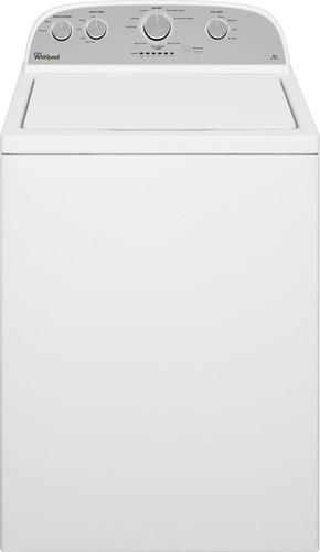 Whirlpool - 3.5 Cu. Ft. 9-Cycle High-Efficiency Top-Loading Washer - White