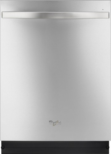 "Whirlpool - 24"" Tall Tub Built-In Dishwasher with Stainless Steel Tub - Monochromatic Stainless Steel"