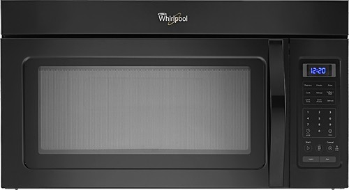 Whirlpool - 1.7 Cu. Ft. Over-the-Range Microwave - Black