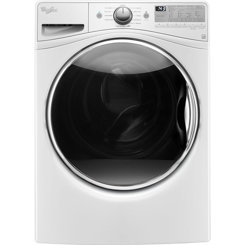 Whirlpool - 4.5 cu. ft. 11-Cycle High-Efficiency Front Load Washer with Steam - White