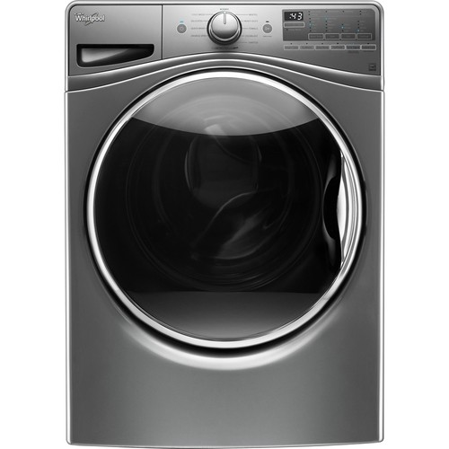 Whirlpool - 4.5 cu. ft. 11-Cycle High-Efficiency Front Load Washer with Steam - Chrome Shadow
