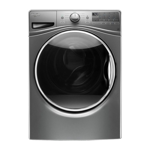 Whirlpool - 4.2 Cu. Ft. 12-Cycle High-Efficiency Front Load Washer - Chrome Shadow