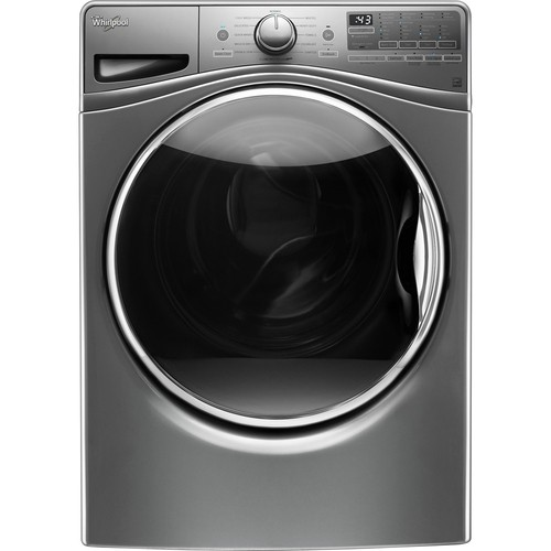 Whirlpool - 4.5 cu. ft. 12-Cycle High-Efficiency Front Load Washer with Steam - Diamond Steal