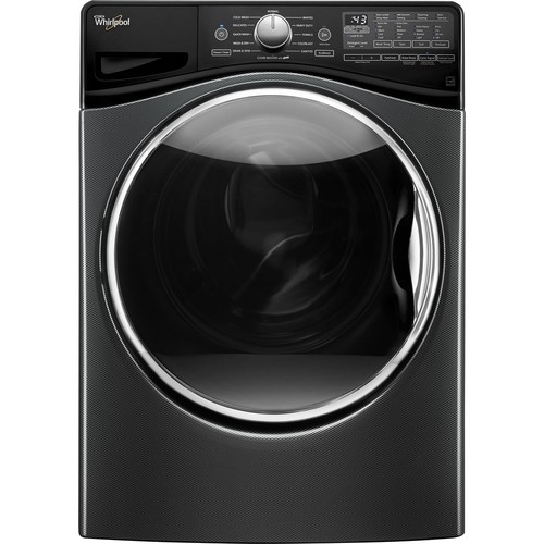 Whirlpool - 4.5 cu. ft. 12-Cycle High-Efficiency Front Load Washer with Steam - Black Diamond