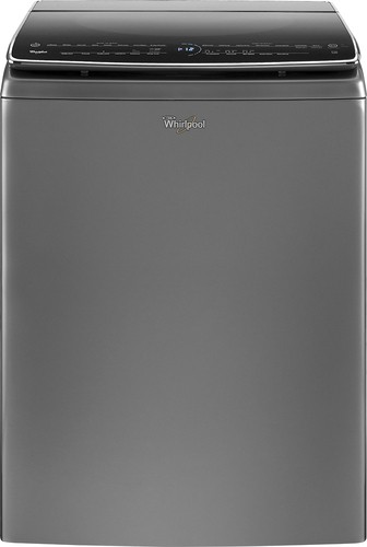 Whirlpool - 6.2 cu. ft. 7-Cycle High-Efficiency  Top Load Washer - Chrome Shadow