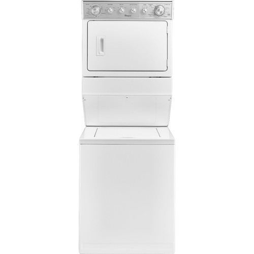 Whirlpool - 2.5 Cu. Ft. 4-Cycle Washer and 5.9 Cu. Ft. 6-Cycle Dryer Electric Laundry Center - White