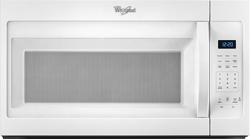Whirlpool - 1.7 Cu. Ft. Over-the-Range Microwave - White