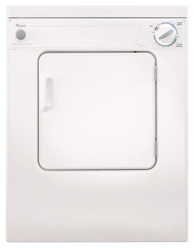 Whirlpool - 3.4 Cu. Ft. 3-Cycle Electric Dryer - White