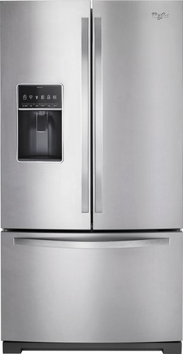 Whirlpool - 26.8 Cu. Ft. French Door Refrigerator - Monochromatic Stainless Steel