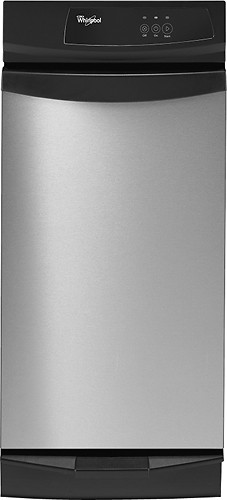 Whirlpool - Gold 1.4 Cu. Ft. Built-in Trash Compactor - Stainless Steel