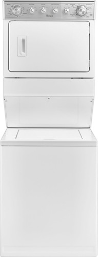 Whirlpool - 2.5 Cu. Ft. 8-Cycle Washer and 5.9 Cu. Ft. 6-Cycle Dryer Gas Laundry Center - White