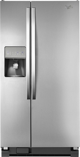 Whirlpool - 22.0 Cu. Ft. Side-by-Side Refrigerator with Thru-the-Door Ice and Water - Stainless Steel