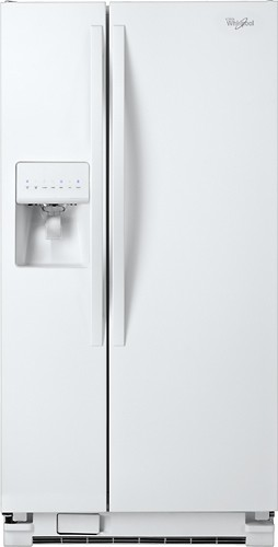 Whirlpool - 22.0 Cu. Ft. Side-by-Side Refrigerator with Thru-the-Door Ice and Water - White