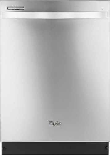 "Whirlpool - Gold 24"" Tall Tub Built-In Dishwasher - Monochromatic Stainless Steel"