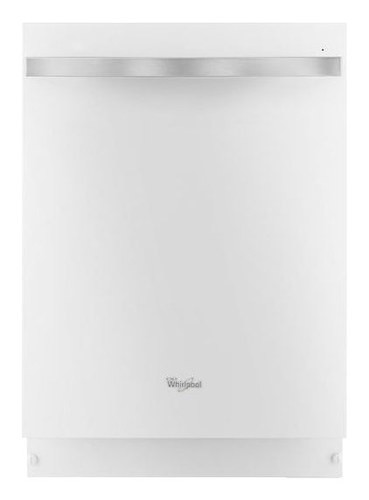 "Whirlpool - Gold 24"" Built-In Dishwasher with Stainless Steel Tub - White Ice"