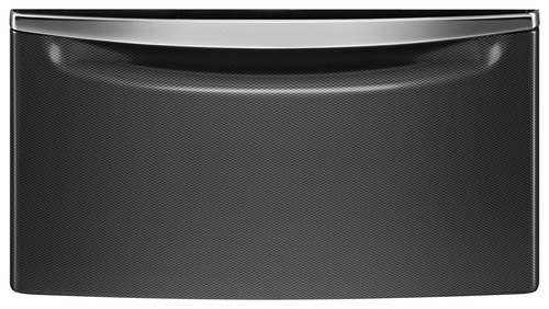 Whirlpool - Laundry 123 Washer/Dryer Laundry Pedestal with Storage Drawer - Black Diamond