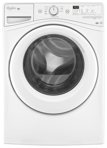 Whirlpool - Duet 4.2 Cu. Ft. 9-Cycle High-Efficiency Front-Loading Washer - White